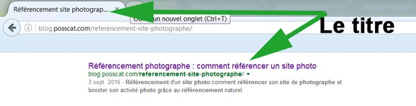 SEO pour photographe: le référencement naturel d'un site photo-balise titre